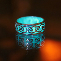 Wholesale Woodwork Wholesalers - Noctilucent stud rings New rings water droplets diamondLuminous ring of carve patterns or designs on woodwork Hollow out drop rings