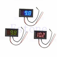 Wholesale Digital Panel Thermometer - Wholesale--50 - 110 degree Digital LED Thermometer DC 5-12V Car Temperature Panel Meter Gauge