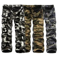 Wholesale Thick Wool Elastic - Wholesale-Fashion 2015 Top Quality New Men Joggers Pants Leisure Men Sweatpants Casual Camouflage Added Wool Winter Thick Pants
