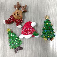 Wholesale Big Refrigerators - Fridge magnets Christmas Decoration Resin Promotional Gifts deer tree Magnetic Sticker Magnet refrigerator sticker Christmas KKA3035
