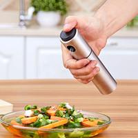 olivenölpumpe sprühflasche großhandel-Edelstahl Sprühpumpe Feinnebel Öl Sprayer Essig Sprayer Küche Olive Sprühflasche Kochutensilien
