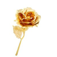 Wholesale S5Q K Gold Ultrathin High Grade Rose Flower Home Decor Valentine s Day Gift AAAFXC