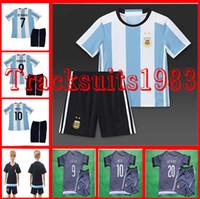 f16a9e9c9 Rugby Boys Short 16 17 Argentina Kids Jerseys child teens Shirt home DI  MARIA HIGUAIN KUN