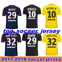 Wholesale Fans Black - Thai quality 17 18 Paris home away third black soccer uniform fans version football shirts soccer jerseys neymar jr di maria cavani verratt