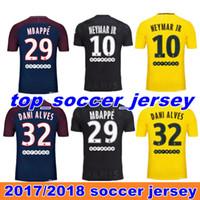 Thai quality 17 18 Paris home away third black soccer uniform fans version  football shirts soccer jerseys neymar jr di maria cavani verratt ... b383f6e99