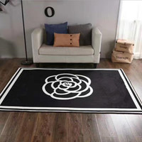 Hot selling Fashion European style brand new living room area rugs 150 x 200 cm non-slip black white flannel home furnishing carpet