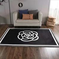zimmer teppiche großhandel-Mode im europäischen Stil brandneue Wohnzimmer Teppiche 150 x 200 cm rutschfest schwarz weiß Flanell Heimtextilien Teppich
