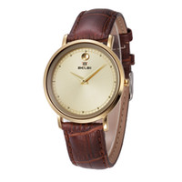 Wholesale China Brand Women Watches - 2016 New Casual Women Quartz Wristwatches Simple Round 4 Color 6831 AAA Leather Pin Buckle China Brand BELBI Watches