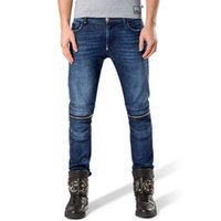Wholesale tapered jeans men - Men's Blue Skinny Men Fashion Slim Fit Enzyme Wash Denim Trousers Brand Clothin Destroyed Distressed Straight Slim Tapered Leg Jeans