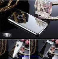 iphone klares frontglas großhandel-360 galvanisch beschichtete Vorder- und Rückseite Spiegelgehäuse Hartmetall-PC-Gehäuse mit durchsichtiger gehärteter Glasabdeckung für das iPhone 5 5s 6 6s plus