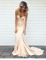 Wholesale Simple Sweetheart Mermaid Dress - 2017 Simple Prom Dresses Mermaid Sweetheart Backless Floor Length Evening Dress Long Women Celebrity Party Gowns Cheap Sleeveless