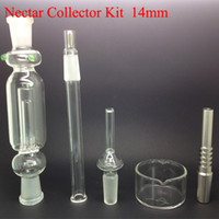 Kit collettore Nettare con Titanium e Quarzo Nail Dabber Piatto Mini Bong 14 millimetri 18 millimetri 10 millimetri Hit Smooth congiunta Kit Nectar Box Collector