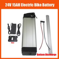 elektrikli batarya 24v toptan satış-Alt deşarj 350 W 24 V Lityum pil 24 V 15AH BMS 29.4 V 2A şarj ile Elektrikli Bisiklet Pil
