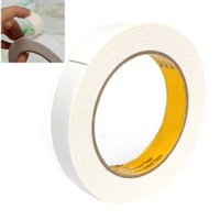 Wholesale Double Sided Tape Prices - Wholesale-Best Price 18mm x 1mm x 5M White Powerful Double Faced Adhesive Tape Foam Double Sided Tape Strong Adhesive Force