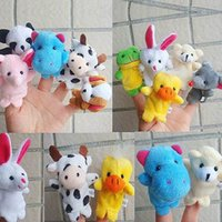 Wholesale Old Macdonald Finger Puppets - Plush Toy Cartoon Animal Finger Puppet Old Macdonald had a farm toys Animal finger doll enjoyable puzzle finger doll Party necessary