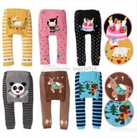 Wholesale Baby Brand Japan - DHL 2016 new kids cute Toddler 90 designs original Busha PP Pants Baby Warmer Leggings Tights Baby Trousers Toddler Pants C287