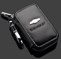 araba uzaktan kasa chevrolet toptan satış-Deri Araba Anahtarı Durumda Chevrolet Anahtar Çanta Uzaktan Oto Çanta Zincirler Tutucu Fermuar için Chevrolet anahtar çanta Illinois Chicago gönderemezsiniz