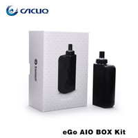 Wholesale Electronic Cigarette Ego Box - Authentic Joyetech Ego Aio Box Kit e cigarette with 2100mah Vape Mod 2ml Vaporizer All-In-One Kit Electronic Cigarette fit BF SS316-0.6ohm