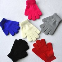 Wholesale Kids Cotton Finger Gloves - Winter gloves for kids winter gloves mittens children Mitten Girl Boy Kid Stretchy Knitted glove multicolors cotton knitted gloves YYA470