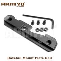 Wholesale Ak 47 Rail Mounts - Armiyo AK Tactical 74U Side Dovetail Mount Plate Rail Mount Adapter Steel Milled Receiver Fit 47 & 74 Series