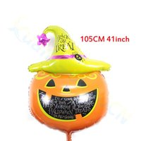 41inch kid cartoon party halloween kürbis hut aluminiumballons bat festival bar folienballon dekoration Kamera Requisiten