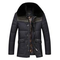 Wholesale Man Coat Fox - Fall-2016 New Brand Men Winter Duck Down Jacket Mens Coat Parkas With Fox Fur Collar Patchwork Jackets Cappotto Plus Size