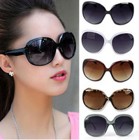 Wholesale Wholesale Cat Eye Frames - Free Shipping Women Ladies Fashion Sunglasses Summer Black Oversized PC UV Sun glasses Gx6
