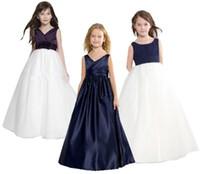 fleabane rock großhandel-Das neue Mädchen Kleid Kinder Hochzeit Blumenmädchen Kleid die Prinzessin Alter von bitteren Fleabane bitteren Fleabane Rock Geburtstag Abendkleid