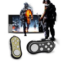 ingrosso mini controller del gamepad del bluetooth-Unique 4 in 1 Smart Mini Bluetooth Gamepad Portachiavi, Mini Game Controller autoscatto Otturatore Joystick Keychain per PC / Android / IOS telefoni intelligenti