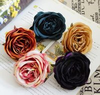 Compra Pittura Di Colore Dei Capelli-Rose FLOWER Head Pittura a olio Colore Dark Autumn Euro Style Romantic Christmas Party Decoration Floar Cloth Shoe Hair Decorative Popular Item