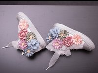 Wholesale Part Story - size:21-25 Children Athletic Shoes Side Part Flower Floral Individuality Baby Kids flowers Sneaker Shoes SS503-22 Eleven Story
