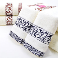 Wholesale Cheap Bathroom Towels Sets - 34*76cm 3pcs Embroidered Cotton Terry Hand Towels Set,Home Decorative Cheap Quality Face Bathroom Hand Towels Set,Toallas Mano