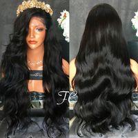 Wholesale cheap human hair wigs online - Top Grade Best Density Full density Virgin Malaysian Thick Human Hair Wig Gluess Silk Top Full Lace Wig Cheap Human Hair Lace Front Wig