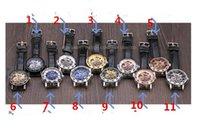 Wholesale Wholesale Men Mechanical - Fashion Winner Black Leather Band Stainless Steel Skeleton Mechanical Watch For Man Gold Mechanical Wrist Watch D989