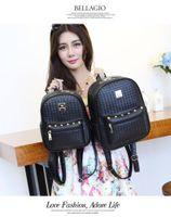Wholesale Japanese Girl Fabric - Shoulder bag backpack female Korean minimalist female Japanese and Korean rivets handbag institute wind female bag schoolbags