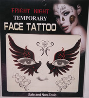 Wholesale Night Smile - Hot sale fright night temporary smile face tattoo Body art chain transfer tattoos temporary stickers in stock 9 styles 3000pcs