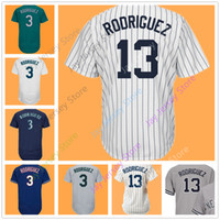 Wholesale alex white baseball - Alex Rodriguez Jersey Seattle Texas Home Away Men Women White Pinstripe Grey Green Teal