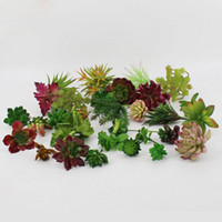 cheap new arrive simulation succulents artificial flowers ornaments mini green artificial succulents plants garden decoration