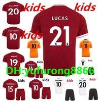 Wholesale Boys Football Jersey Xl - KIDS soccer jersey 2017 2018 M.Salah Gerrard Firmino Football shirt uniform MANE Coutinho LALLANA Sturridge shirt 17 18 boys youth Children