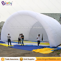 Wholesale Tunnel Tents - Free Shipping white Inflatable Stage Cover Tent 10x8x6 meters nylon cloth tunnel Arcs