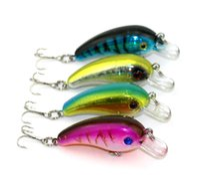 Wholesale Crankbait 5cm - HENGJIA 50pcs New 5CM 4.8G 8# hooks small plastic fishing CRANKBAIT lures fishing hard bait 50mm minnow BASS pesca carp fishing tackle