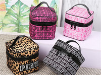 Wholesale Vs Classic - Top quality New Classic Love VS Pink Cosmetic makeup train case Bag Double Zipper Handbag Portable Storage Bag 4 Colors.