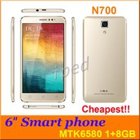 Wholesale Dhl Shipping Phablet - N700 6 inch Quad Core MTK6580 Android 5.1 3G smart Cell Phone 1G 8GB RAM GPS 5MP Camera Dual Sim Unlocked Phablet mobile Free shipping DHL