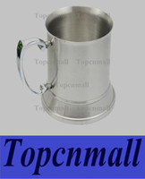 Wholesale 16 ounce Double Wall Stainless Steel Tankard beer mug high quality Mirror finish