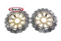 Wholesale Honda Cbr Front Rotors - Arashi Left&Right CNC Front Brake Disc Brake Rotors CBR600F CBR600 CBR900 FOR HONDA CBR 600F VFR800 V-TEC CBR900RR GOLD WING GL1500 F6C