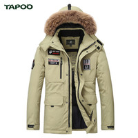 Tapoo Mens Down Cappotti Giacconi invernali in poliestere Abbigliamento casual sottile casuale Antivento Handsome Warm Regular Parkas And Coats Hooded901