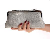 Wholesale Crescent Bags - Clutch Bags Evening Bags Handbags Bridesmaid Clutches Evening Purses Handbags Crescent Diamond Evening Bags Wedding Clutch Bag High Quality