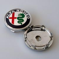 Wholesale alfa romeo badge emblem for sale - Group buy 50pcs mm wheel hub caps for alfa remeo Giulietta car emblem badge decal car cover emblem sticker emblems styling