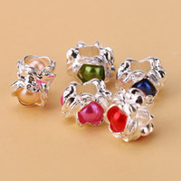 Wholesale Variety Beads - Wholesale Variety Of Colorful Charm Pandora European Charms Bead Compatible With Snake Chain Bracelets Fashion DIY Jewelry