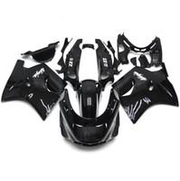 Wholesale 96 Kawasaki Ninja - Fairings For Kawasaki ZX11 ZZR1100D 93 94 95 96 97 98 99 00 01 02 03 1993 - 2003 ABS Injection Motorcycle Fairing Kit Cowling Black